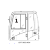 Kép 2/2 - CAT Edzett  felső ajtó üveg 2868867