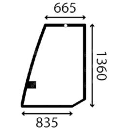 Case Bal oldali ajtóüveg P2447029