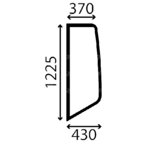 Case Bal oldalüveg G2047052