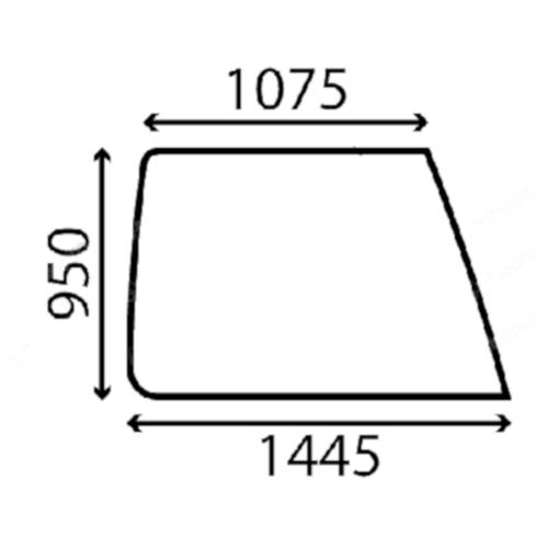 Case Jobb oldalüveg B2547021