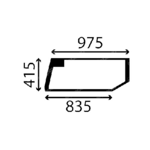 Case Bal alsó ajtóüveg Q2447030